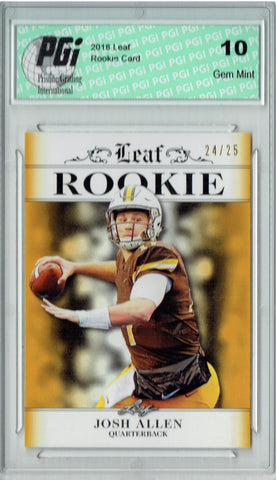 Josh Allen 2018 Leaf Exclusive #RA-02 Gold SP Only 25 Made Rookie Card PGI 10