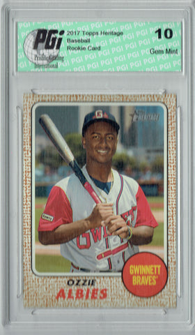 Ozzie Albies 2017 Topps Heritage #103 Rookie Card PGI 10
