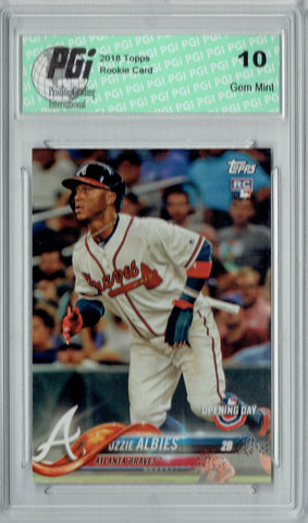 Ozzie Albies 2018 Topps Opening Day #13 Rookie Card PGI 10