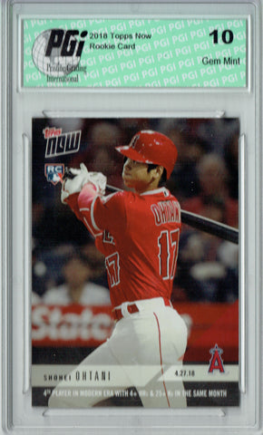 Shohei Ohtani 2018 Topps Now #136 Only 5,144 Made Rookie Card PGI 10
