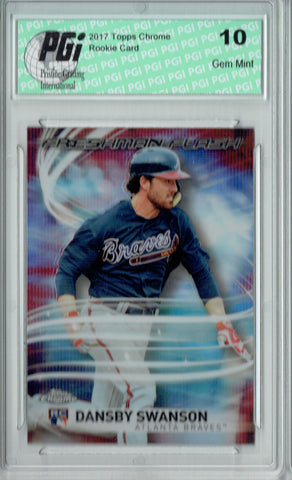 Dansby Swanson 2017 Topps Chrome #FF-18 Freshman Flash Rookie Card PGI 10