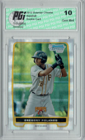 Gregory Polanco 2012 Bowman Chrome #BCP182 Xfractor Rookie Card PGI 10