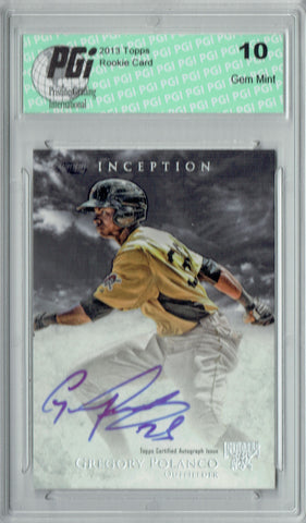 Gregory Polanco 2013 Topps Inception #PA-GP Autograph Auto Rookie Card PGI 10