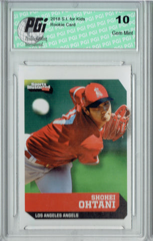 Shohei Ohtani 2018 S.I. for Kids #735 Rookie Card PGI 10