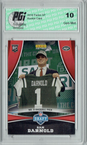 Sam Darnold 2018 Panini Draft Night #DP3 Only 368 Made Rookie Card PGI 10