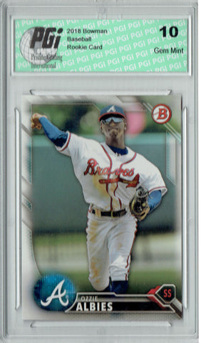 Ozzie Albies 2016 Bowman #BP110 Rookie Card PGI 10