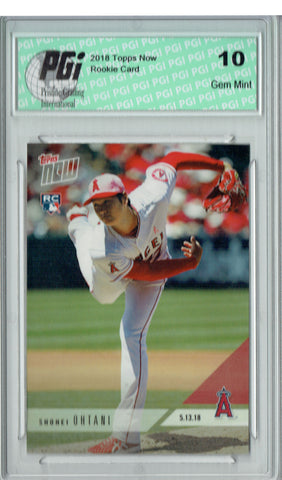 Shohei Ohtani 2018 Topps Now #210 Only 5,544 Made Record Ks Rookie Card PGI 10