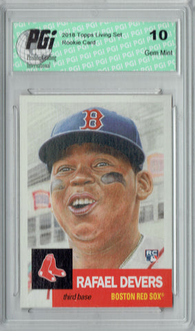 Rafael Devers 2018 Topps Living Set #29 Only 8,403 Made Rookie Card PGI 10