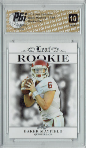 Baker Mayfield 2018 Leaf Exclusive #RA-01 PRISTINE Rookie Card PGI 10