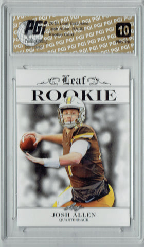 Josh Allen 2018 Leaf Exclusive #RA-02 PRISTINE Rookie Card PGI 10