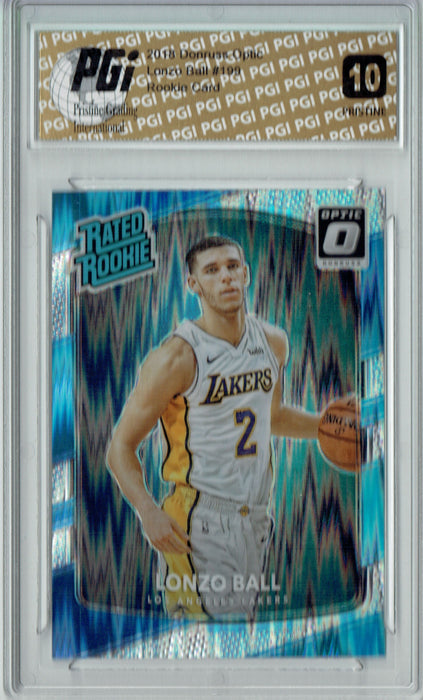 Lonzo Ball 2017 Donruss Optic Flash #199 PRISTINE Rookie Card PGI 10