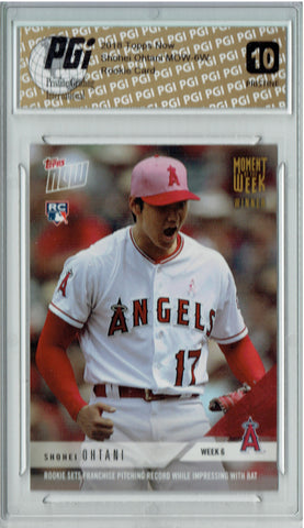 Shohei Ohtani 2018 Topps Now Winner #MOW-6W PRISTINE Rookie Card PGI 10