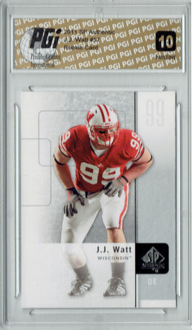 J.J. Watt 2011 SP Authentic #57 PRISTINE Rookie Card PGI 10