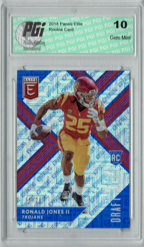 Ronald Jones II 2018 Elite Draft #113 Aspirations #14/25 Rookie Card PGI 10