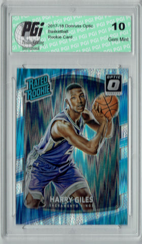 Harry Giles 2017 Donruss Optic Flash Holo Refractor #181 Rookie Card PGI 10