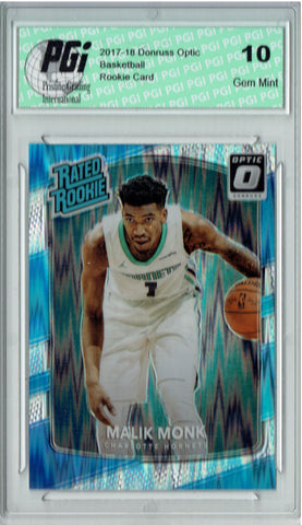Malik Monk 2017 Donruss Optic Flash Holo Refractor #190 Rookie Card PGI 10