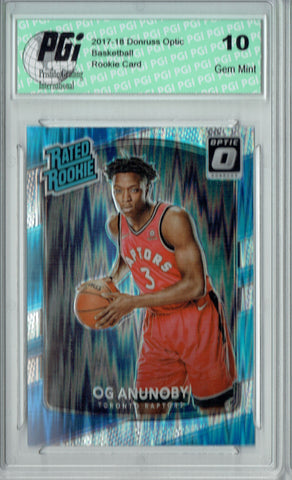 OG Anunoby 2017 Donruss Optic Flash Holo Refractor #178 Rookie Card PGI 10