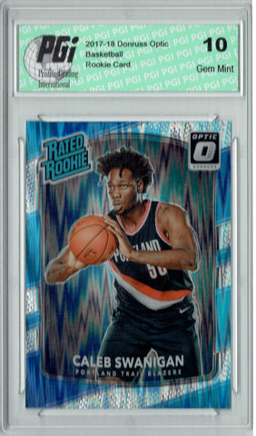 Caleb Swanigan 2017 Donruss Optic Flash Holo Refractor #175 Rookie Card PGI 10