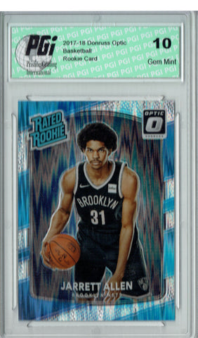 Jarrett Allen 2017 Donruss Optic Flash Holo Refractor #179 Rookie Card PGI 10