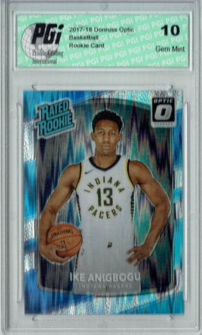 Ike Anigbogu 2017 Donruss Optic Flash Holo Refractor #176 Rookie Card PGI 10