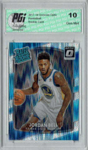 Jordan Bell 2017 Donruss Optic Flash Holo Refractor #163 Rookie Card PGI 10