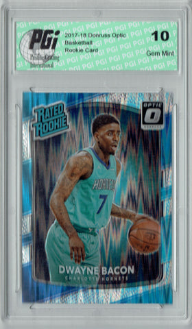 Dwayne Bacon 2017 Donruss Optic Flash Holo Refractor #161 Rookie Card PGI 10