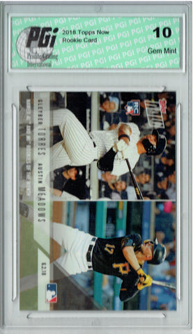 Gleyber Torres 2018 Topps Now #277 Austin Meadows 1783 Made Rookie Card PGI 10