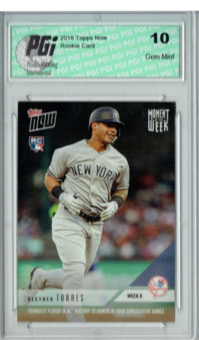 Gleyber Torres 2018 Topps Now #MOW-8 Only 2,174 Made 4 HRs Rookie Card PGI 10