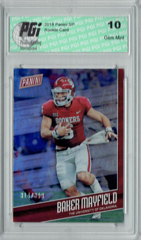 Baker Mayfield 2018 Panini SP #FB1 Only 399 Made Rookie Card PGI 10