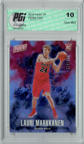 Lauri Markkanen 2018 Panini SP #55 Only 399 Made Rookie Card PGI 10