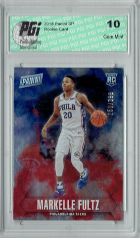 Markelle Fultz 2018 Panini SP #58 Only 399 Made Rookie Card PGI 10