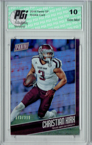 Christian Kirk 2018 Panini SP #FB18 Only 399 Made Rookie Card PGI 10