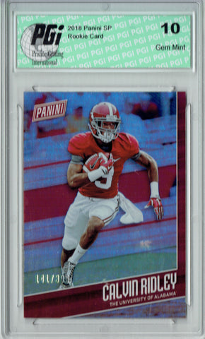 Calvin Ridley 2018 Panini SP #FB6 Only 399 Made Rookie Card PGI 10