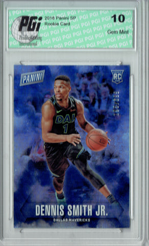 Dennis Smith 2018 Panini SP #54 Only 399 Made, Dallas SP Rookie Card PGI 10