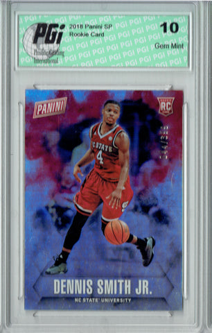 Dennis Smith 2018 Panini SP #54 Only 399 Made, N.C. State Rookie Card PGI 10