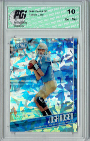 Josh Rosen 2018 Panini SP #FB4 Cracked Ice, #4/10 Made Rookie Card PGI 10