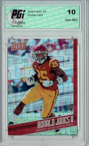 Ronald Jones II 2018 Panini SP #FB12 Escher Squares 25 Made Rookie Card PGI 10