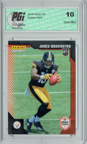 James Washington 2018 Panini Rookie Premiere #FL20 210 Made Rookie Card PGI 10