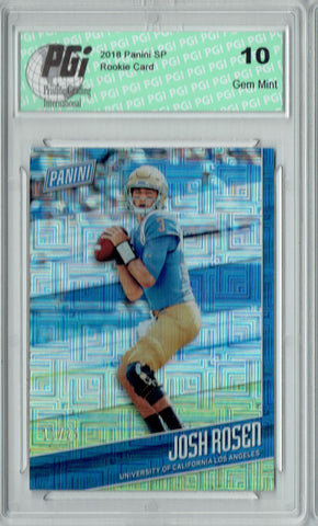 Josh Rosen 2018 Panini SP #FB4 Escher Squares 25 Made Rookie Card PGI 10