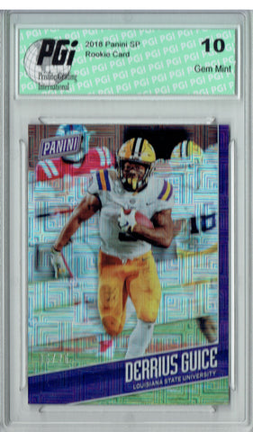 Derrius Guice 2018 Panini SP #FB9 Escher Squares 25 Made Rookie Card PGI 10