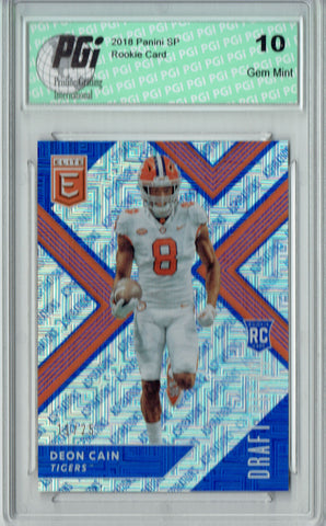 Deon Cain 2018 Panini Elite #114 Only 25 Made Rookie Card PGI 10