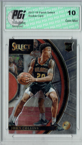 John Collins 2017 Panini Select #45 Rookie Card PGI 10