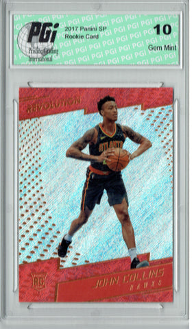 John Collins 2017 Panini Revolution #137 Rookie Card PGI 10