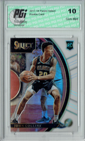 John Collins 2017 Panini Select #45 White SP, #143/149 Rookie Card PGI 10