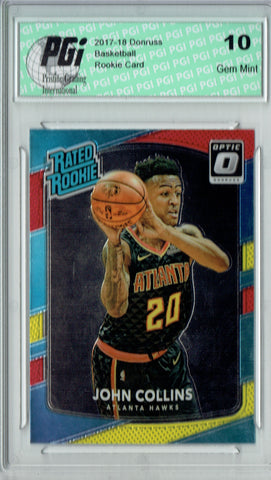 John Collins 2017 Donruss Optic #182 Red Yellow SP Rookie Card PGI 10
