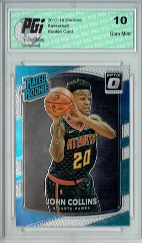 John Collins 2017 Donruss Optic #182 Rookie Card PGI 10