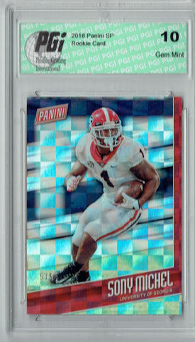Sony Michel 2018 Panini SP #FB11 Checkerboard #5/5 Made Rookie Card PGI 10