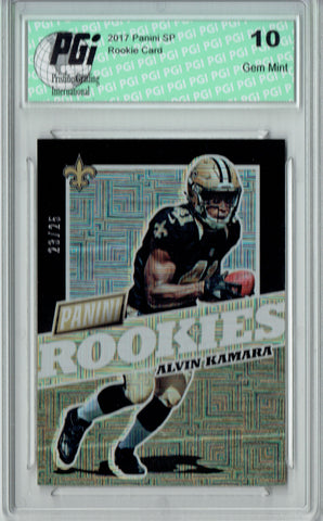 Alvin Kamara 2017 Panini SP #FB46 Escher Squares 25 Made Rookie Card PGI 10