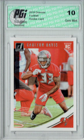 Carlton Davis 2018 Donruss Football #377 Rookie Card PGI 10