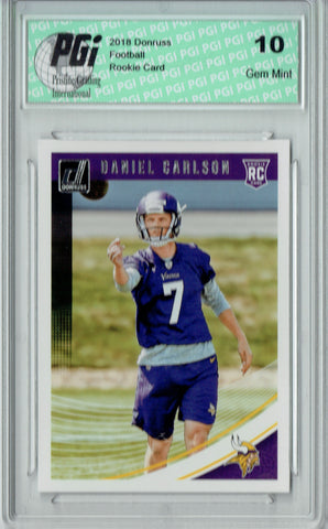 Daniel Carlson 2018 Donruss Football #399 Rookie Card PGI 10